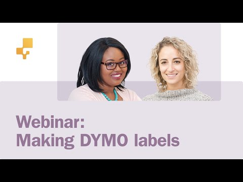 Webinar: Labelling and printing with DYMO