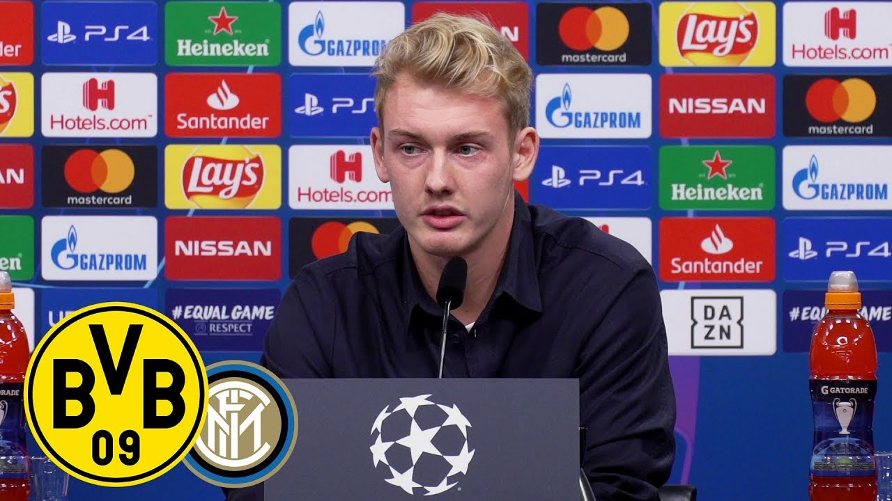 Pressekonferenz mit Lucien Favre und Julian Brandt | BVB - Inter Mailand