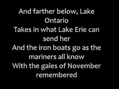 Gordon Lightfoot - The Wreck of the Edmund Fitzgerald (Lyric