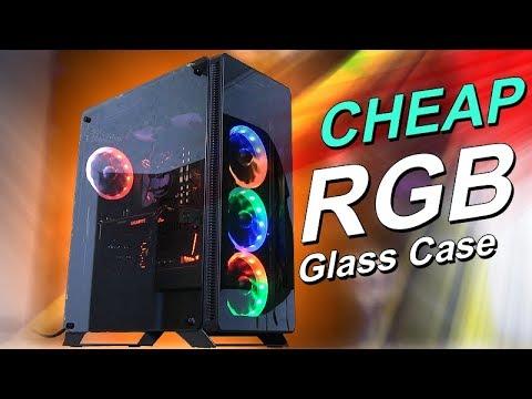A Cheap RGB Glass Case! -- Sahara P35