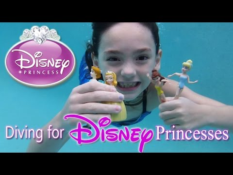 Thumbnail: Diving for Disney Princess Dolls Girl Swimming Playing in Pool