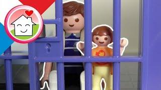 Playmobil police en francais Papa et Anna en prison - Famille Hauser - Jouets pour enfants