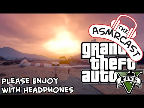 ASMR GTA V - Flying A Twin Engined Plane & Parachuting Out Of A Cessna!