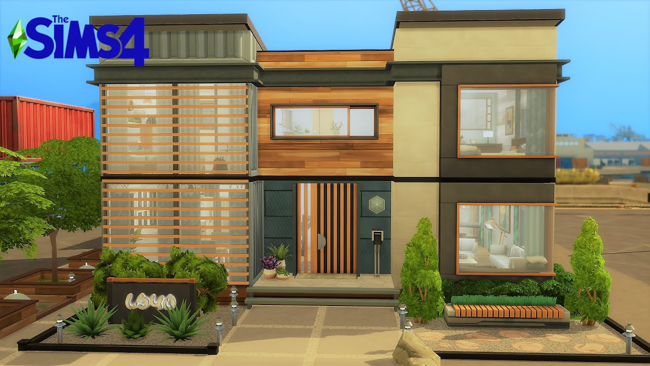 Modern Shipping Container Home I No CC I Stop Motion I TS4