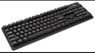 Распаковка чумовой офисной клавиатуры Sven Standart 301 USB