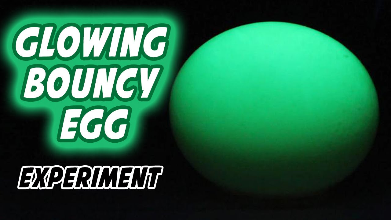 How To Make Glowing Bouncy Egg Youtube