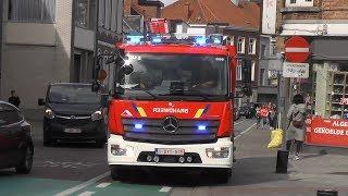 Nieuwe Autopomp Brandweer Aalst met spoed naar een interventie in Aalst