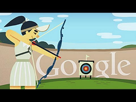 London 2012: Archery (Google Doodle)
