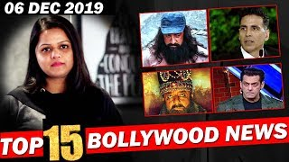 Top 15 Bollywood News | 09 Dec 2019 | Dabangg 3, Alia Bhatt, Star Screen Awards 2019, Akshay Kumar