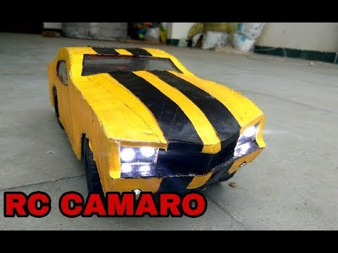 WOW! AMAZING RC CAMARO FIFTH GENERATION | DIY | how to make | American muscle car | with cardboard
