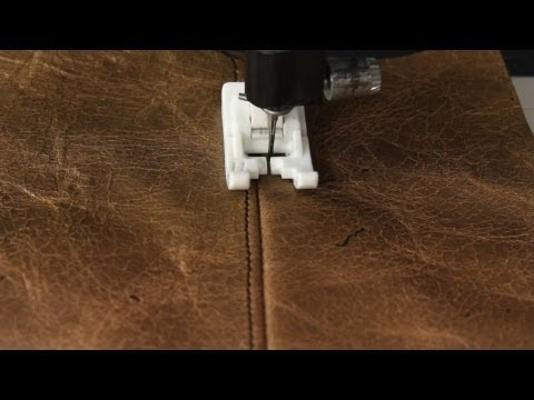 How To Sew With Leather or Vinyl
