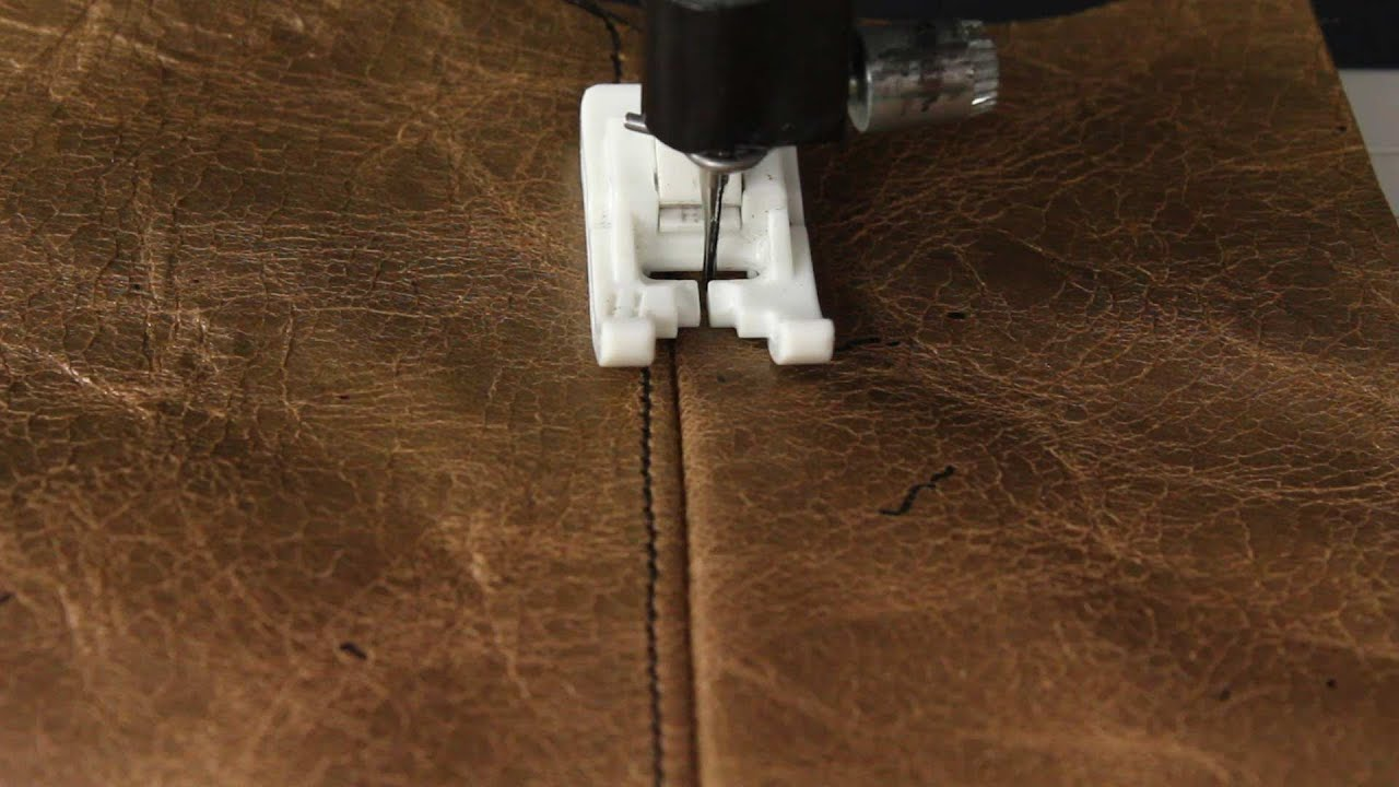How To Sew With Leather Or Vinyl Youtube