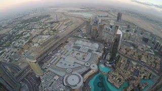 Dubai Burj Khalifa timelapse sunset unedited