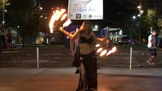 Vaudeville belly/sword/fire dance at GymFit Fest 2018