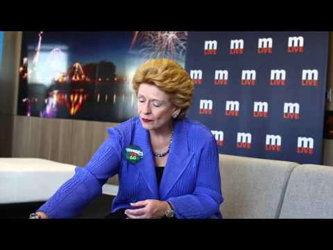 U.S. Senator Debbie Stabenow talks about the race for the White House