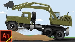 Camión de Animación en Adobe Animate CC