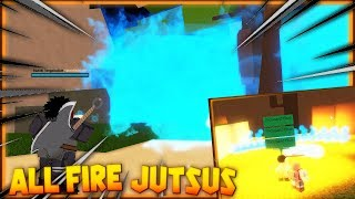 Roblox Shinobi Origin | ALL FIRE JUTSUS SHOWCASE/REVIEW