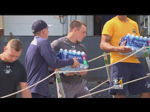 Mass Maritime Football Team Aid Harvey Victims