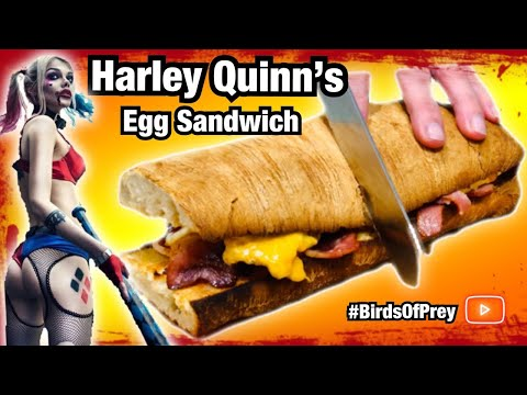How To Make Harley Quinn S Egg Sandwich Birds Of Prey Movie Suicide Sqaud Youtube