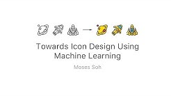 Towards Icon Design with Machine Learning
