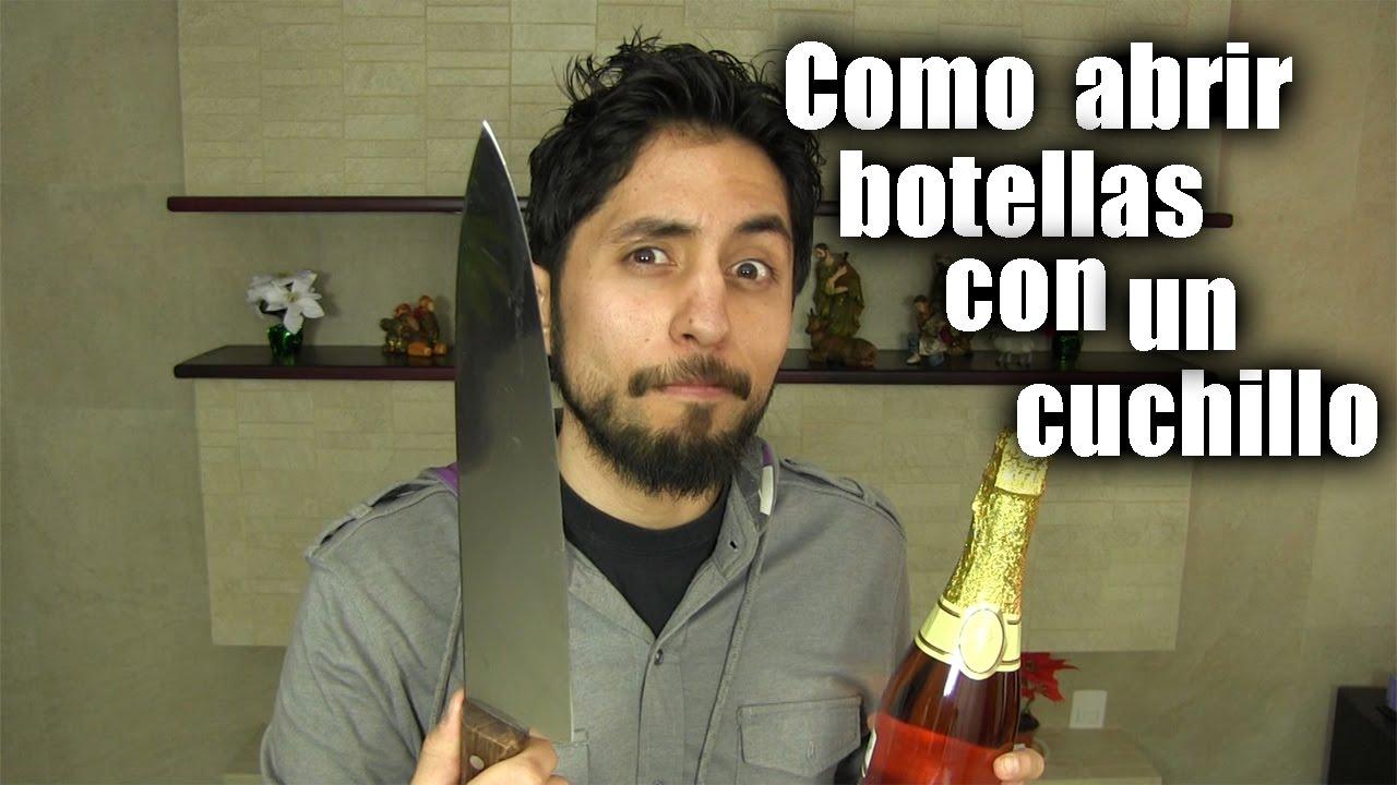 Como abrir botellas de champagne con un cuchillo for Como pulir un cuchillo