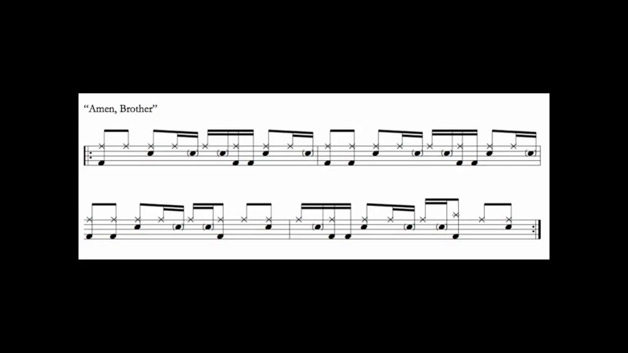 The Amen Break How To Play With Notation Youtube