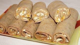 Закуска-Рулетики из Печенки с Начинкой.Простой Рецепт