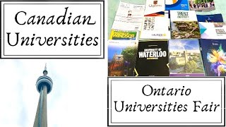 Canadian Universities | Ontario Universities Fair| OUF | Higher Studies in Canada | English