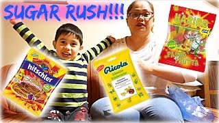 MOM AND SON TRY GERMAN CANDY FOR THE FIRST TIME | Mommy & Finn-Tastic | iamfinntasticsmom