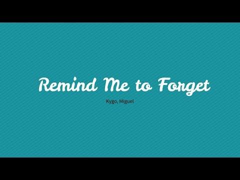 Kygo & Miguel  Remind Me To Forget Reggae