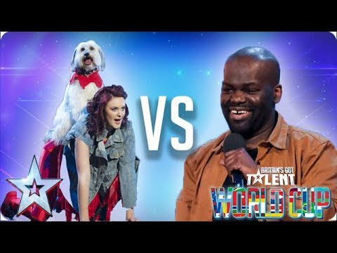 KNOCKOUT MATCH: Ashleigh & Pudsey vs Daliso Chaponda | Britain's Got Talent World Cup 2018
