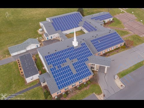 Solar Panel Drone Video Sunbury Bible Church Pennsylvania