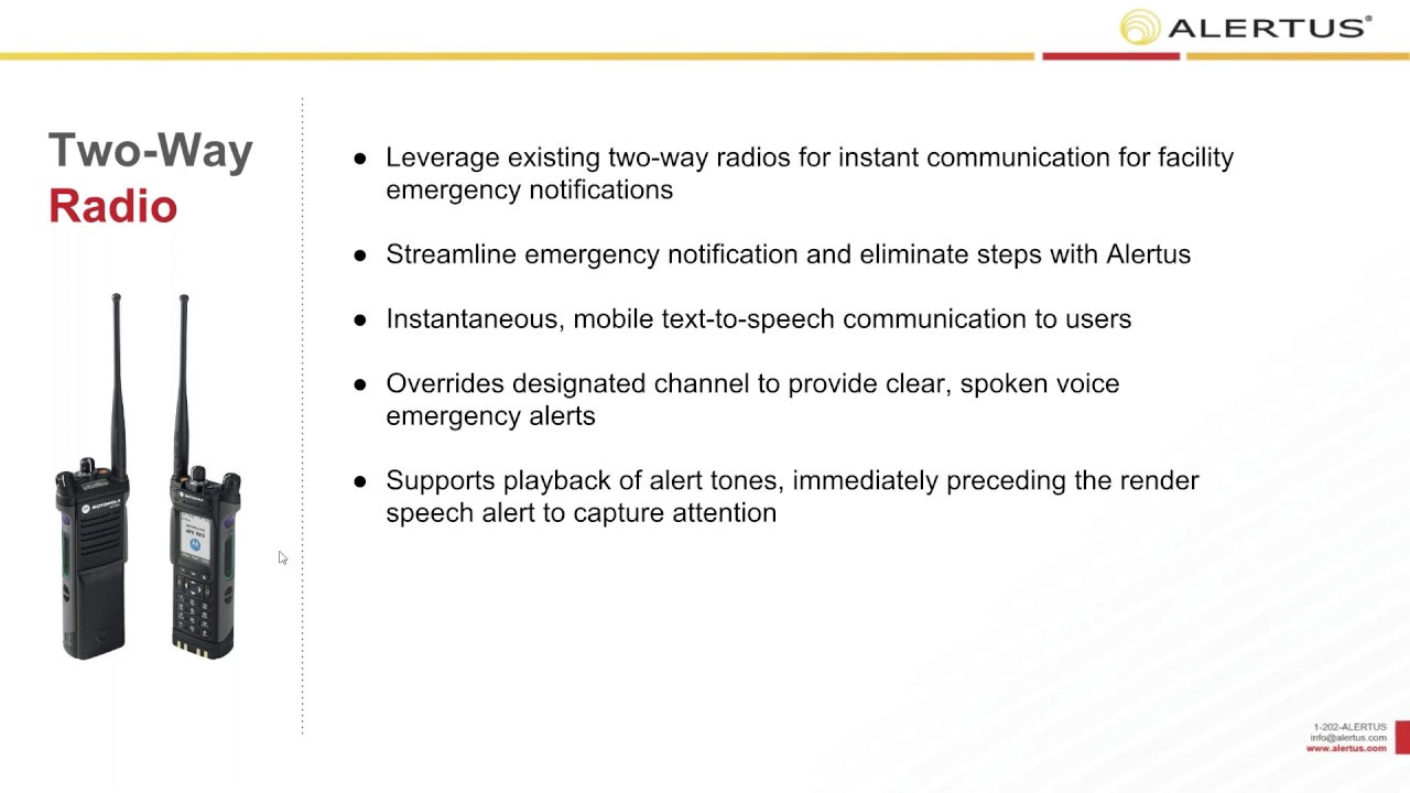 Expanding Crisis Communication & Notification Reach with Two Way Radios