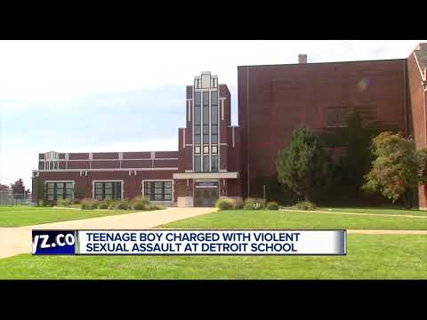 Teenage boy charged with violent sexual assault at Detroit school