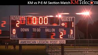 Kasson Mantorville vs P-E-M Section Girls Soccer