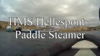 Колесный пароход Хелиспонт.(Работал такой пароходик на Мальте. Пока его не разбомбили. Теперь мы на него ныряем. Глубина 40 метров. Хорош..., 2016-01-07T15:44:56.000Z)