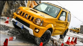 NEW SUZUKI JIMNY SHINSEI 2017 - FIRST TEST DRIVE OFF ROAD CARRARA MARBLE QUARRIES - ENG ITA SUB