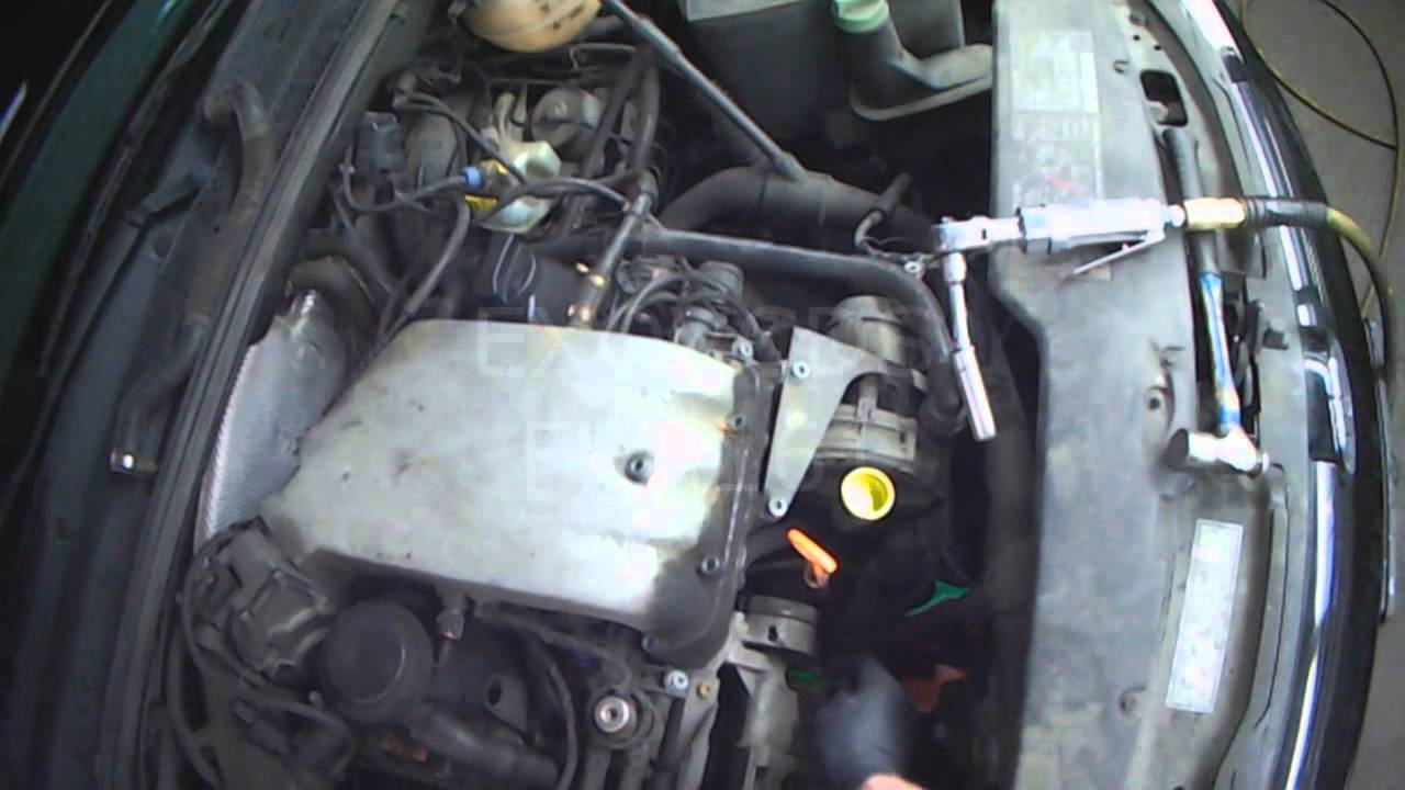 small resolution of vw a3 2 0l aba water pump removal with a c part 1