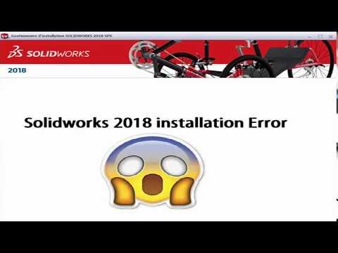Solidworks 2018 installation (set-up) error solution in