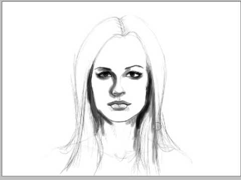 Line Drawing Of Female Face : How to draw a sexy female face real time audio part youtube