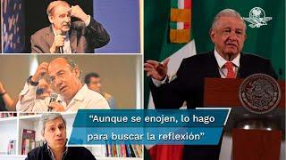 """Cuando toco el tema, lo hago, aunque se enojen, para buscar la reflexión, el análisis, la toma de conciencia de sectores que se dejan manipular"""", expresó el presidente López Obrador"""