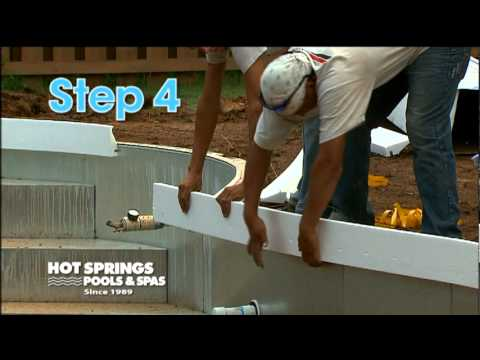 5 Steps To Building A Vinyl Pool Hot Springs Pools Spas Greenville Sc Asheville Nc
