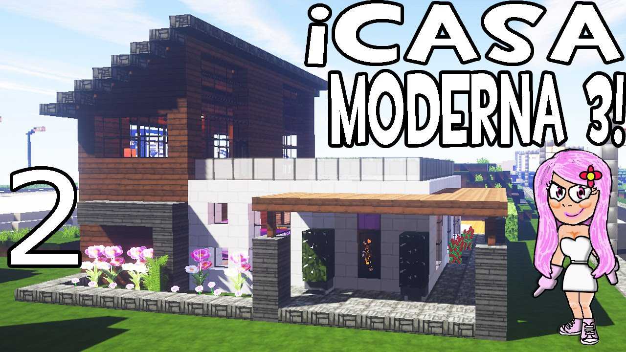 Casa moderna 3 en minecraft parte 2 c mo hacer y for Casa moderna 3 parte 2