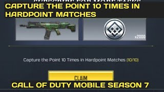 CAPTURE THE POINT 10 TIMES IN HARDPOINT MATCHES HIGHLIGHT REEL CALL OF DUTY MOBILE COD MOBILE