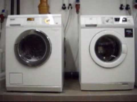 waschmaschinen waschen miele vs aeg youtube. Black Bedroom Furniture Sets. Home Design Ideas