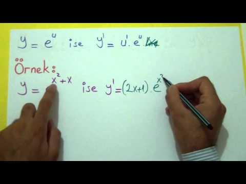 Türev 4 (Logaritmik Ve Üstel Fonk.) Şenol Hoca Matematik
