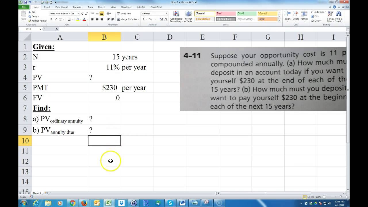 present value of annuity due table pdf