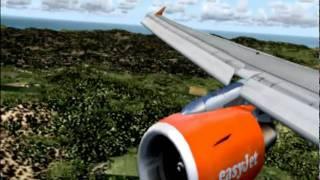 FS2004 Ibiza approach in A319 Easyjet