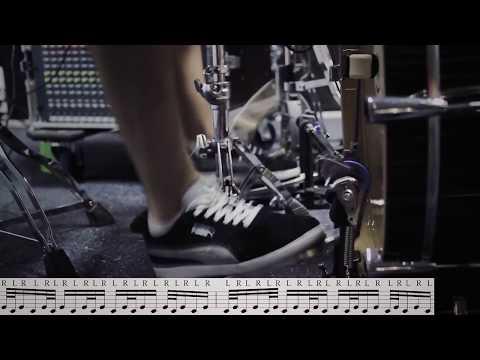 Техника игры ногами - двойки и тройки(двойная педаль)