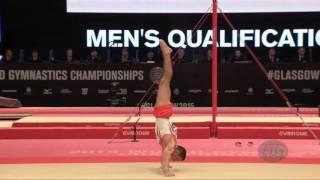 MOUSSA Rachid (MAR) - 2015 Artistic Worlds - Qualifications Floor Exercise